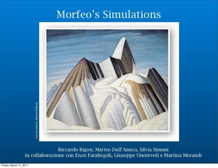 Morfeo's Simulations                         Lawren Harris, Mount Robson                                  Riccardo Rigon, ...