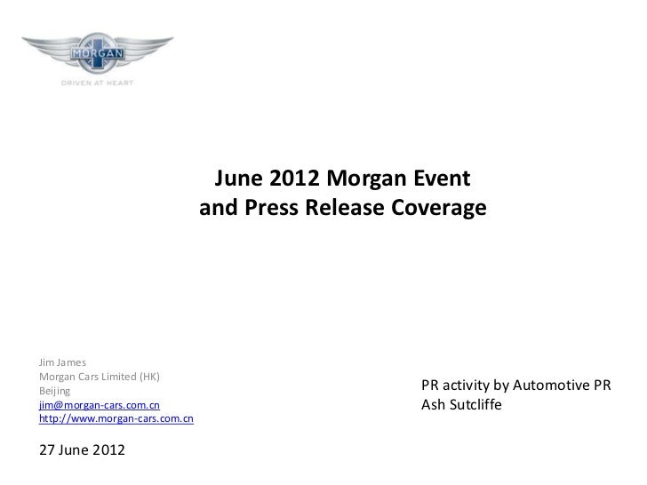 Morgan cars   luxury china 2012 media coverage