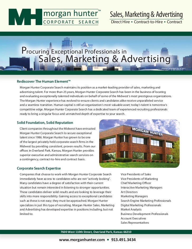 Sales, Marketing & Advertising                                                                         Direct Hire Contrac...