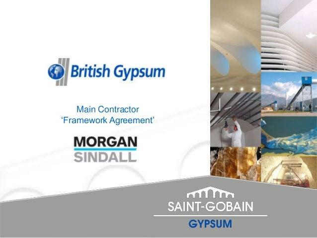 "Main Contractor""Framework Agreement"""