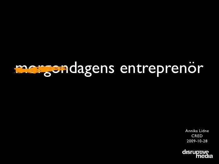 Morgondagens Entreprenör