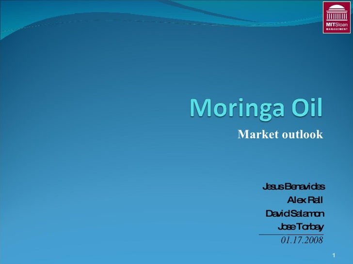 Moringa (Malunggay) Oil Market Outlook by MIT Sloan. More info on www.youmanitas.com
