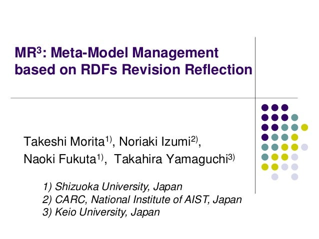 MR^3: Meta-Model Management based on RDFs Revision Reflection