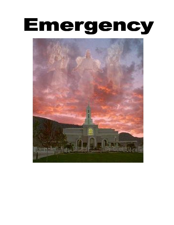Mormon Emergency Preperation