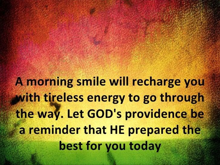Morning Inspiration