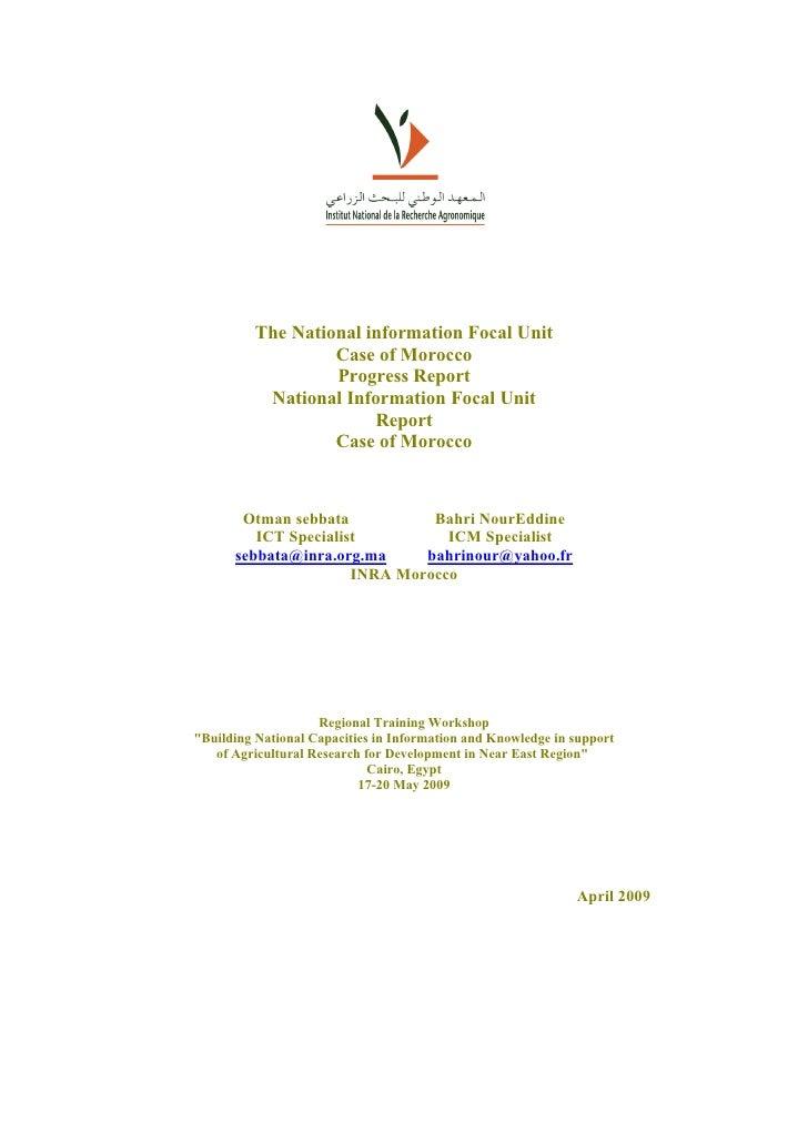 Moroccan Nais Report 2009