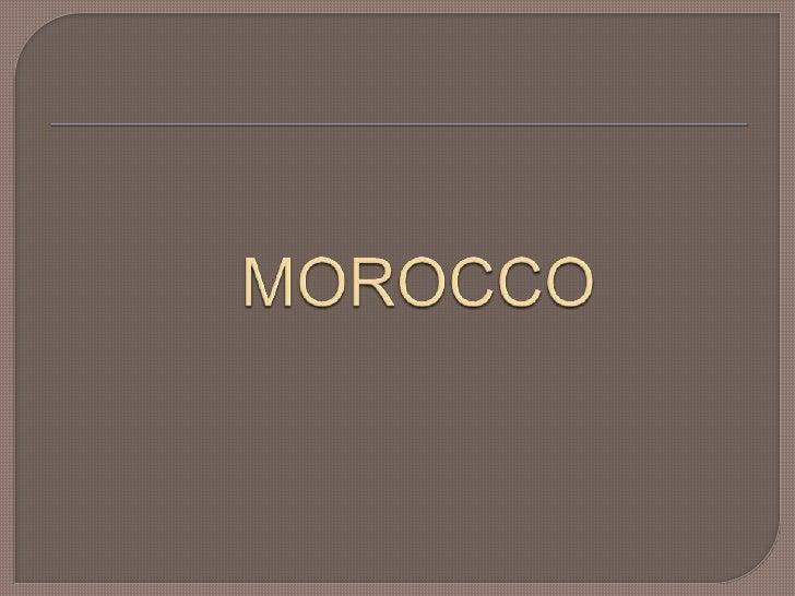 MOROCCO<br />