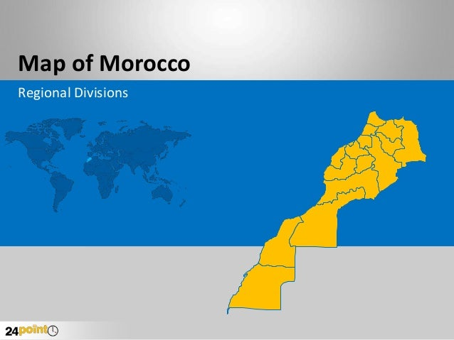 Map of Morocco Regional Divisions