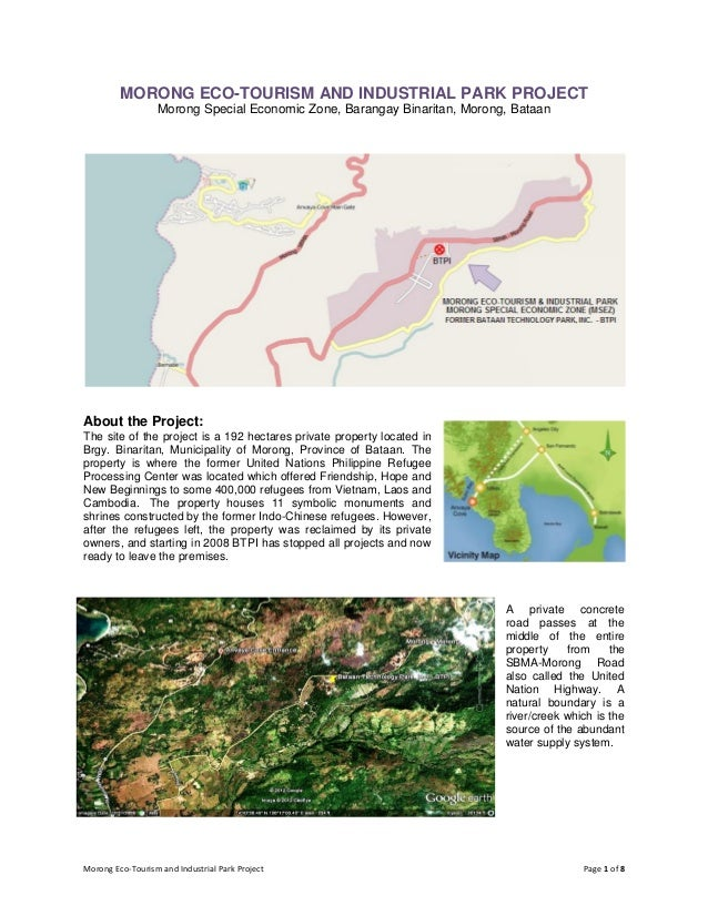 Morong Eco-Tourism and Industrial Park Project Page 1 of 8MORONG ECO-TOURISM AND INDUSTRIAL PARK PROJECTMorong Special Eco...