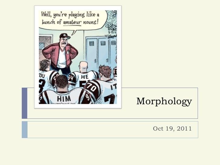 Morphology  Oct 19, 2011