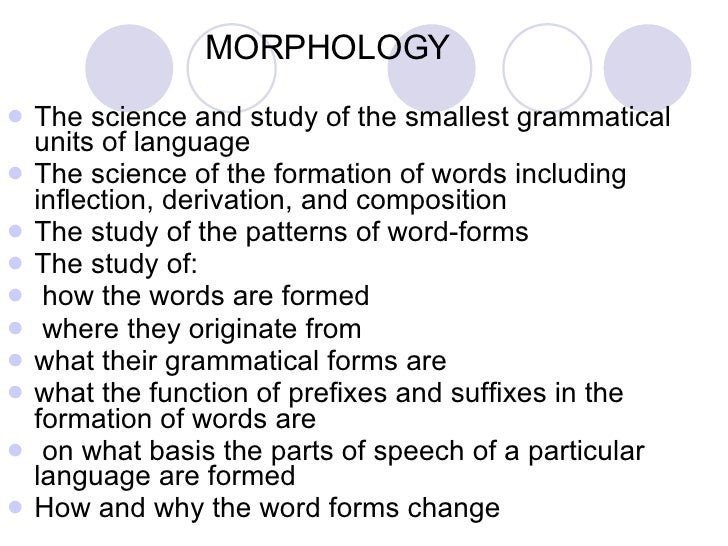 an analysis of the topic of the free morphemes Starts at 08:33 indentifying morphemes starts at 15:04 inflectional or  derivational suffixes starts at 19:07 morphology by grade level.