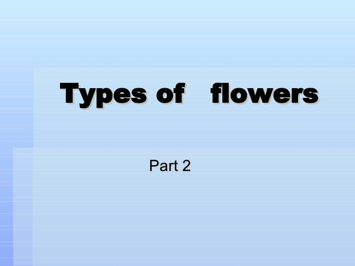 Types of  flowers Part 2