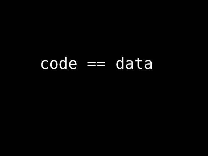 code == data