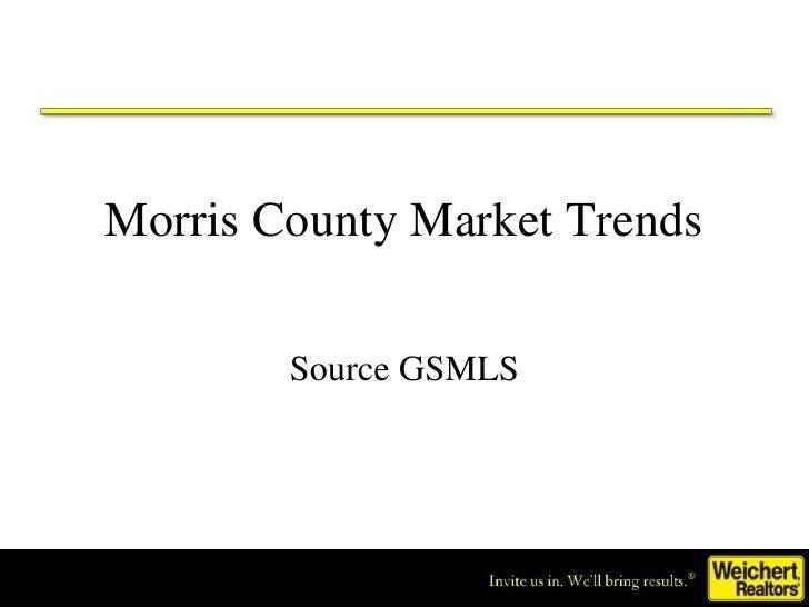 Morris County Market Trends Source GSMLS