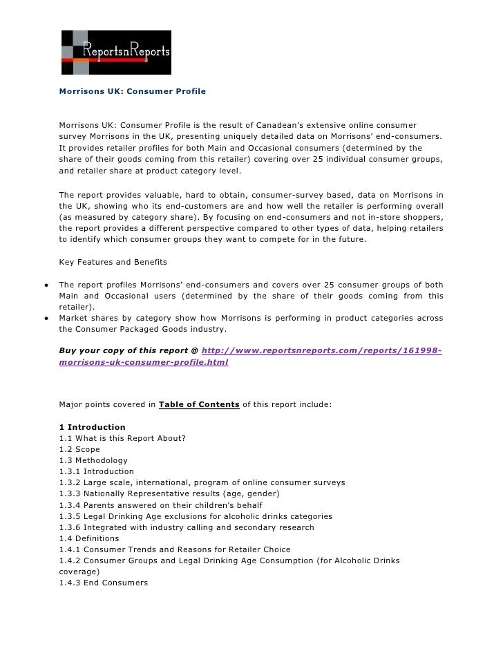 Morrisons uk: consumer profile