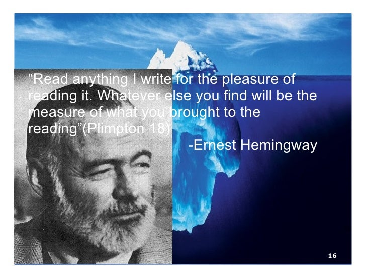 "hills like white elephants theory of omission The iceberg theory: how ernest hemingway's principle of omission is reflected in his ""hills like white elephants"" acclaimed as the ""ultimate."