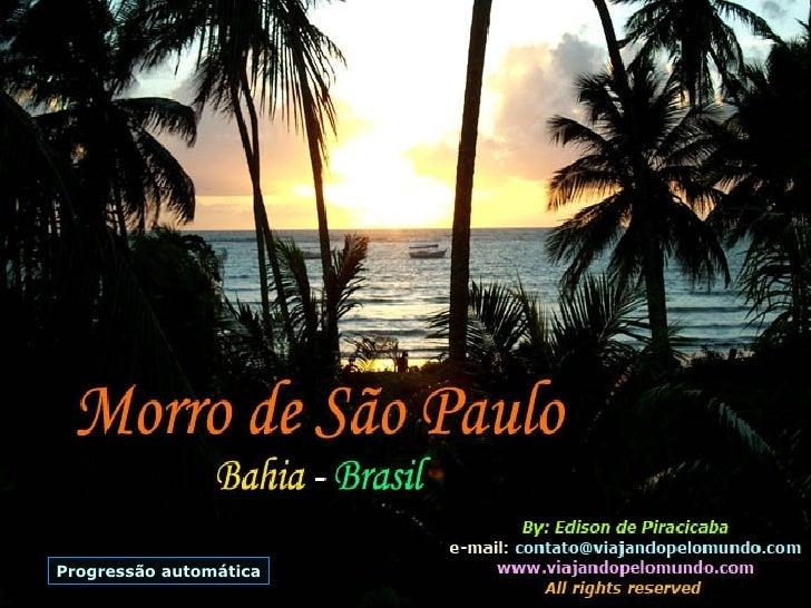 Morro Sao Paulo Bahia Brasil