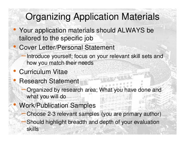 How to write your dissertation job market
