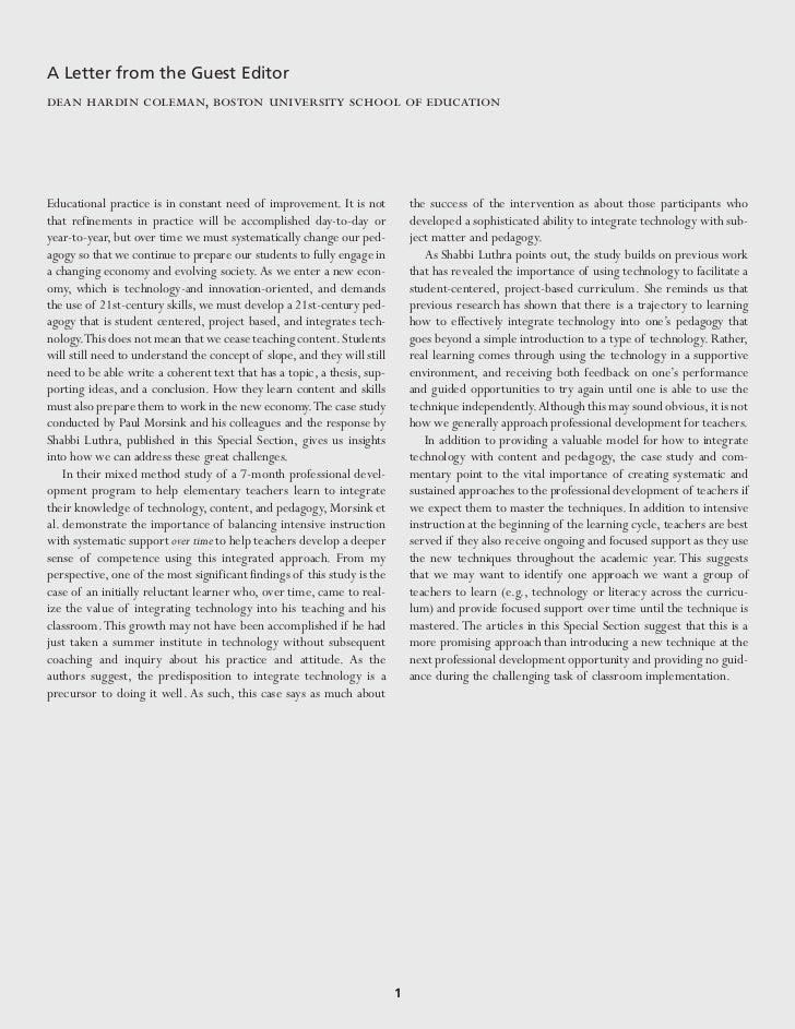 Morsink Schira Hagerman Hartman Et al 2011 Technology Integration TPACK Learning Trajectories