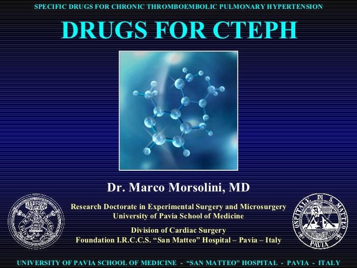 Drugs for CTEPH - studi farmacologici