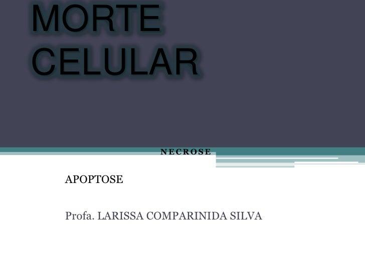 MORTECELULAR                NECROSE APOPTOSE Profa. LARISSA COMPARINIDA SILVA