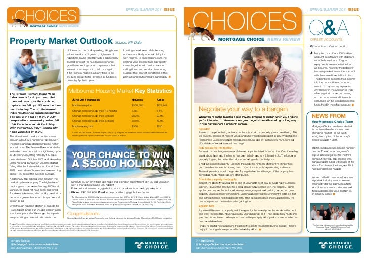 Mortgage Choice Home Loan Newsletter