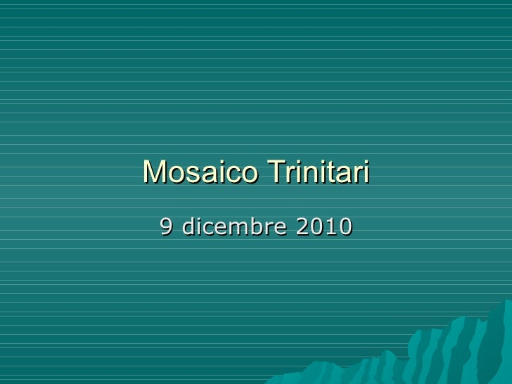 Mosaico Trinitari