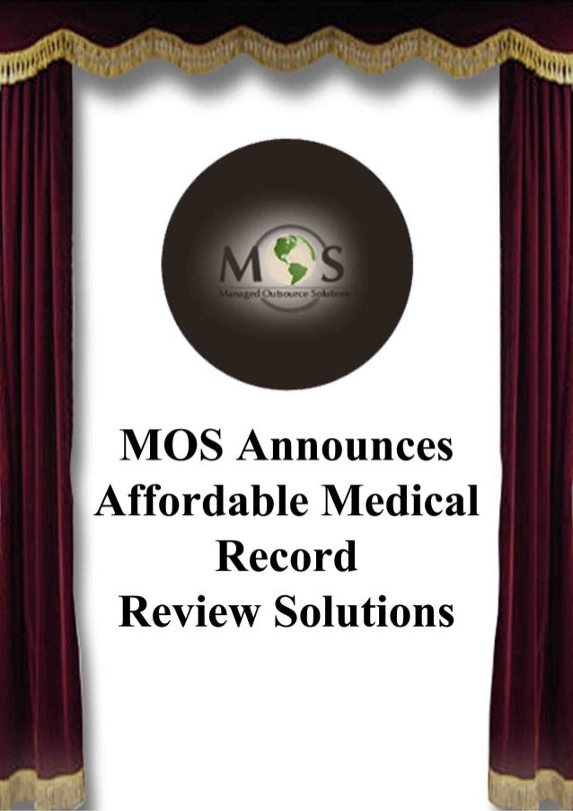 MOS Announces Affordable Medical Record Review Solutions This established medical record review company is offering custom...