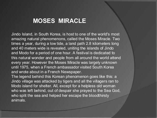 Moses miracle