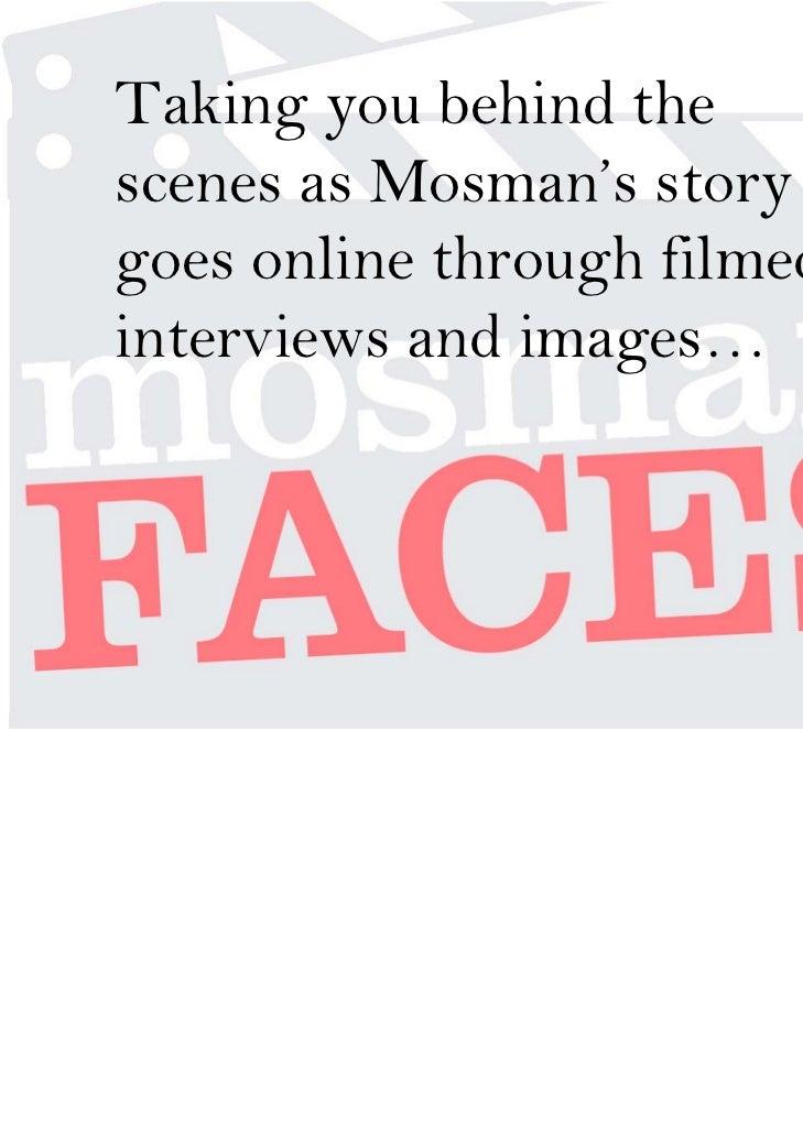 Mosman Faces presentation at SWITCH 2011