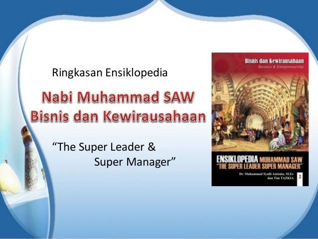"""Ringkasan Ensiklopedia """"The Super Leader & Super Manager"""""""