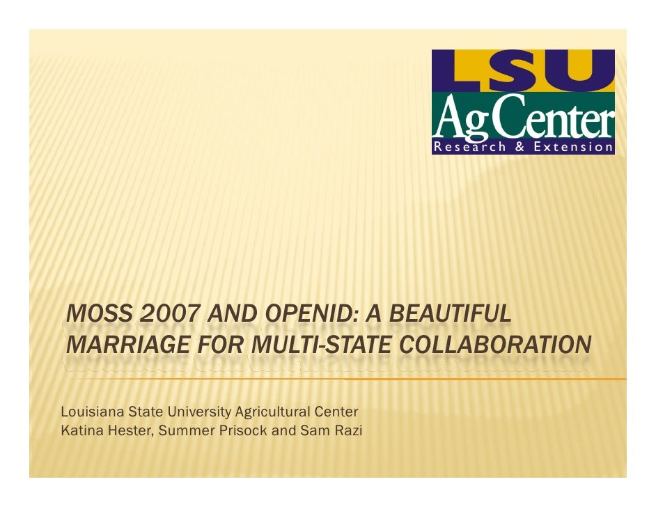 MOSS 2007 and OpenID: a beautiful marriage for multi-state collaboration