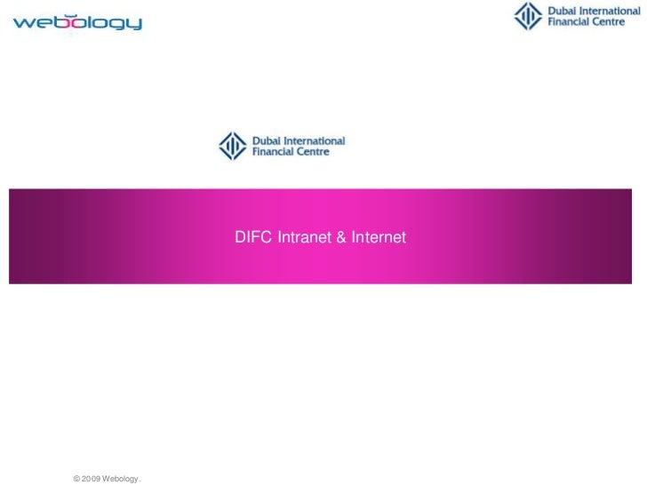 DIFC Intranet & Internet<br />