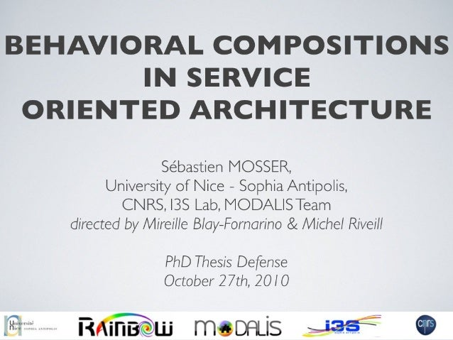 Behavioral Compositions in Service-Oriented Architecture