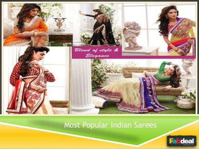 Most Popular Indian Sarees