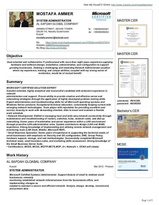 Mostafa ammer cv resume 2013
