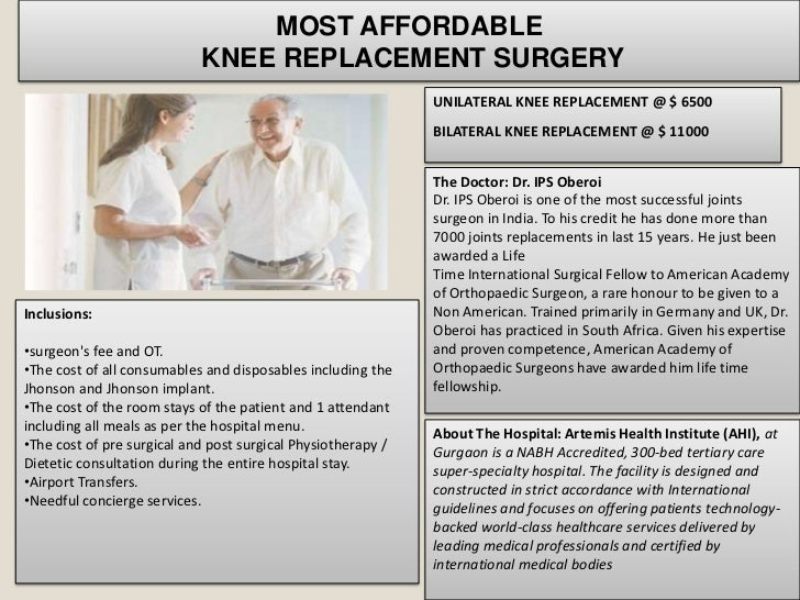 MOST AFFORDABLE                            KNEE REPLACEMENT SURGERY                                                       ...