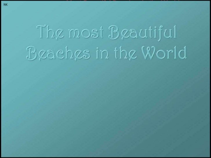 Most Beautiful Beaches in the World<br />