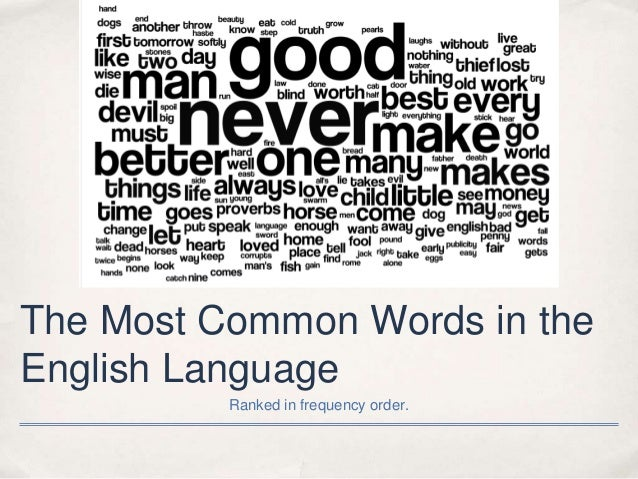 The Most Common English Words