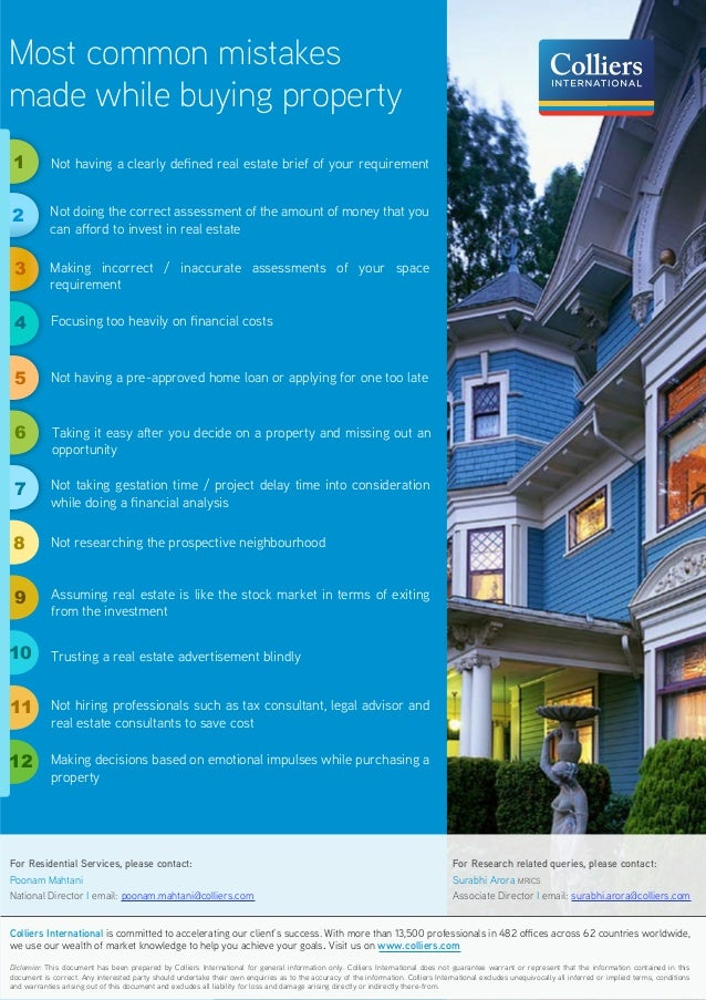 Most common mistakes made while buying_property