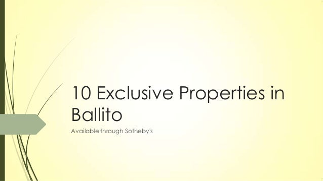 10 Exclusive Properties in Ballito Available through Sotheby's