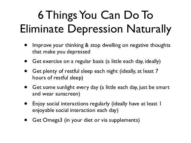 Things to do to get out of depression
