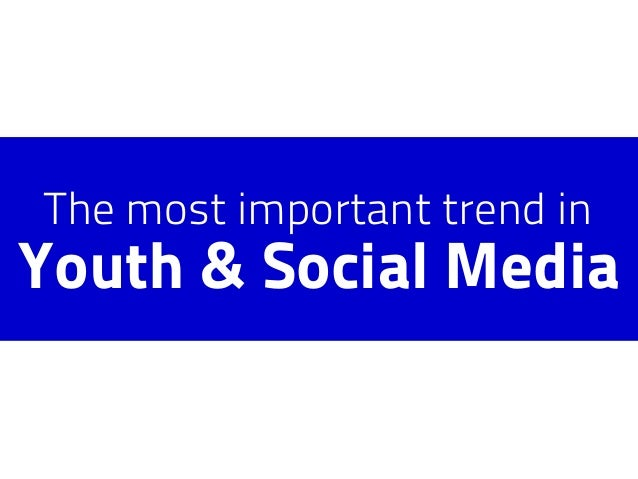 The most important trend in Youth & Social Media