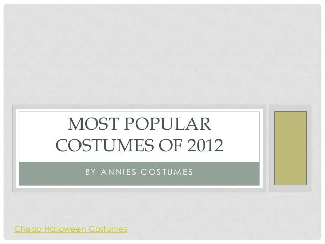 Most popular costumes of 2012