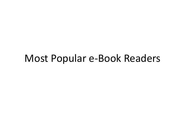 Most Popular e-Book Readers