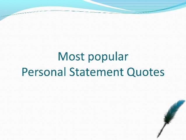 Starting personal statement