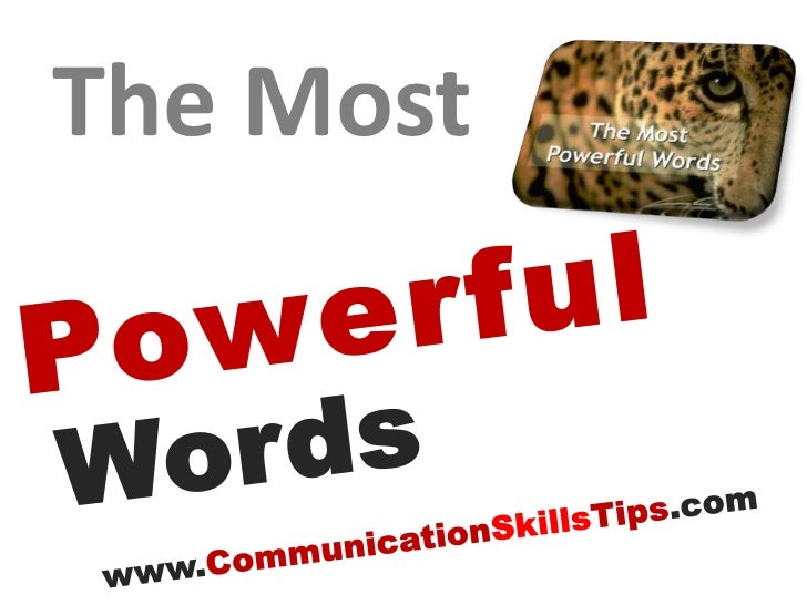 Most powerful words in english