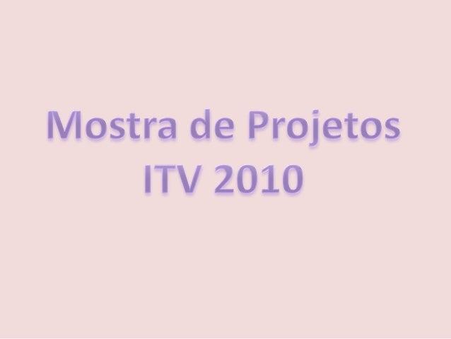 Mostra de projetos itv 2010