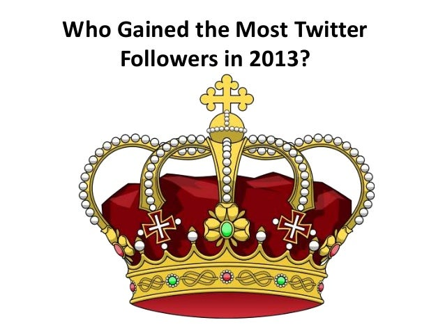 Twitter King Who Gained the Most Followers in 2013