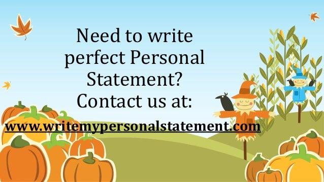 Writing my personal statement